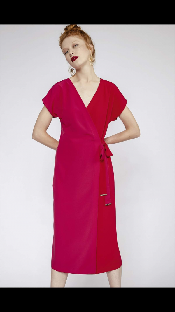 Perspective Edom wrap dress