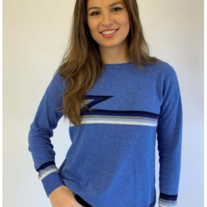 Luella Knitwear Ziggy Sea Blue Multi Stripe