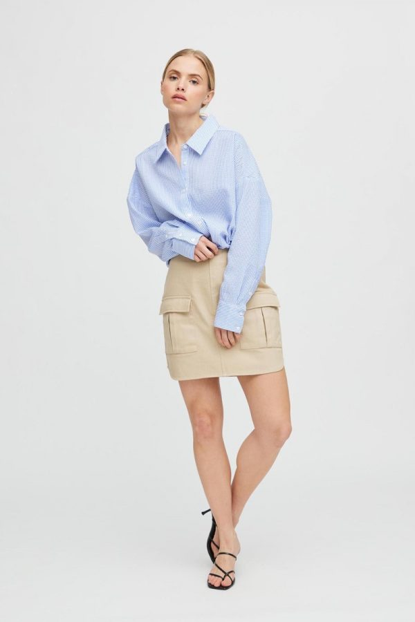 A-View Signe Utility Skirt in Sand