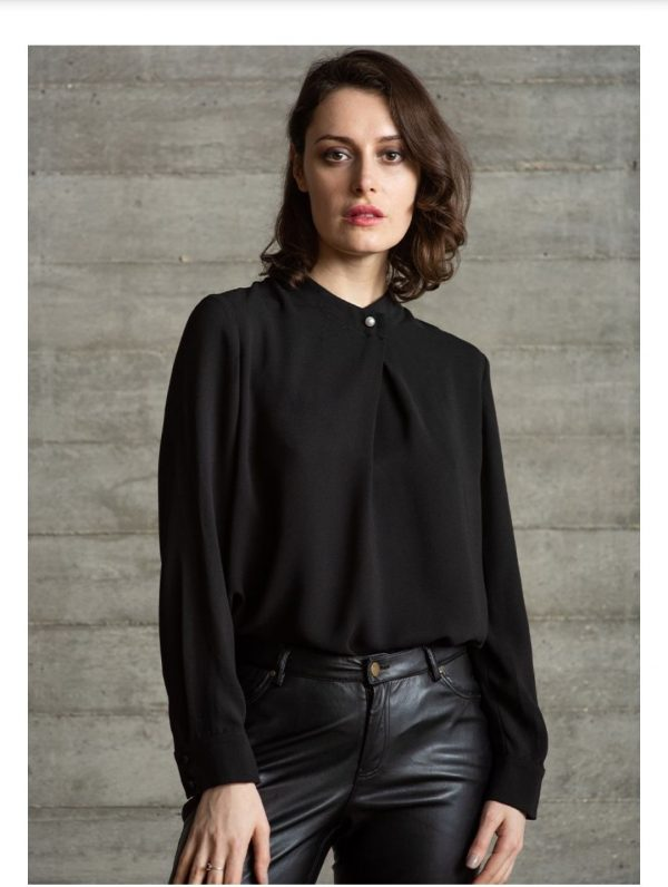 The Shirt Company Belmont Black Blouse 1