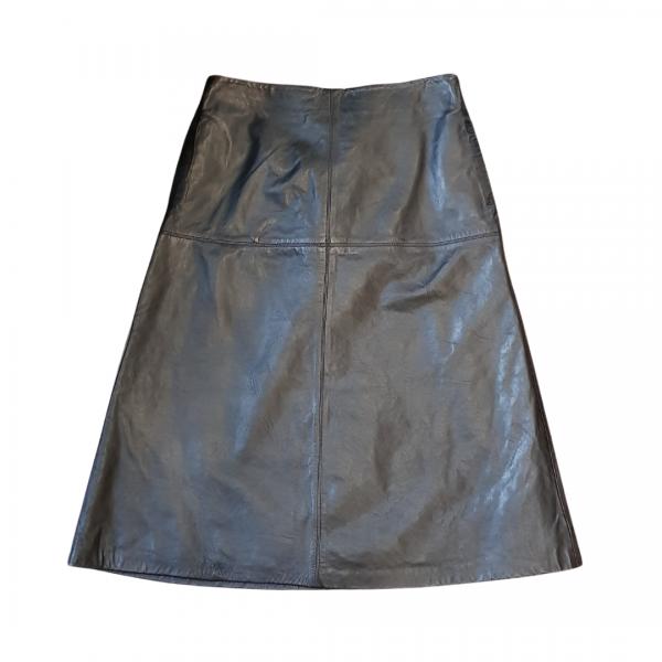 Cigno Nero Latricia Leather Skirt