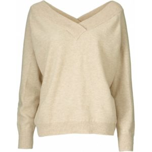 Pieszak Victoria Batwing Knit in Sand  Victoria is a knit in a luxurious 100% wool quality. The knit has long raglan sleeves and ribbed sleeve and bottom hems