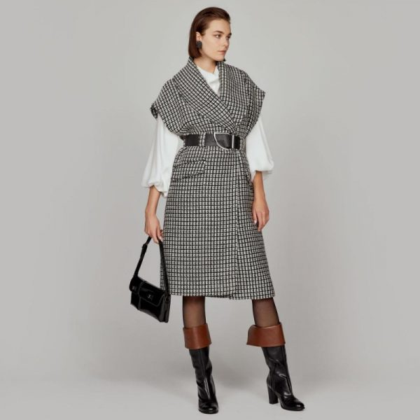 Access Fashion Long Tweed Vest