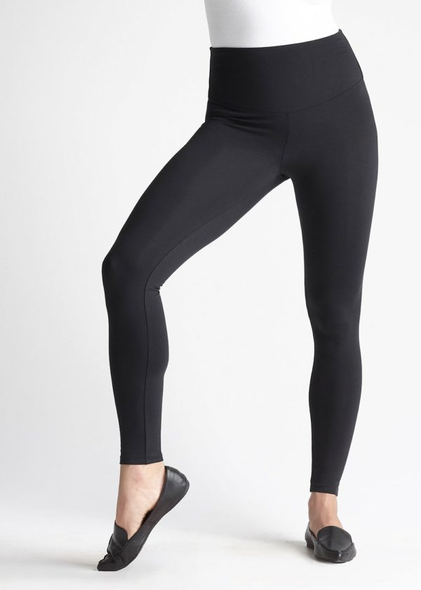 Yummie Black Rachel Cotton Stretch Shaping Legging