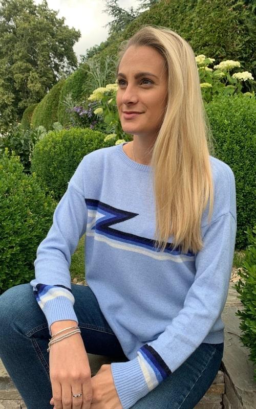 Luella cashmere blend ziggy blue jumper