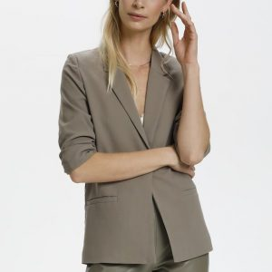 Soaked in Luxury Shirley Blazer in Brindle