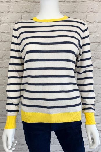Luella Brittany jumper in Ivory/Navy/Yellow