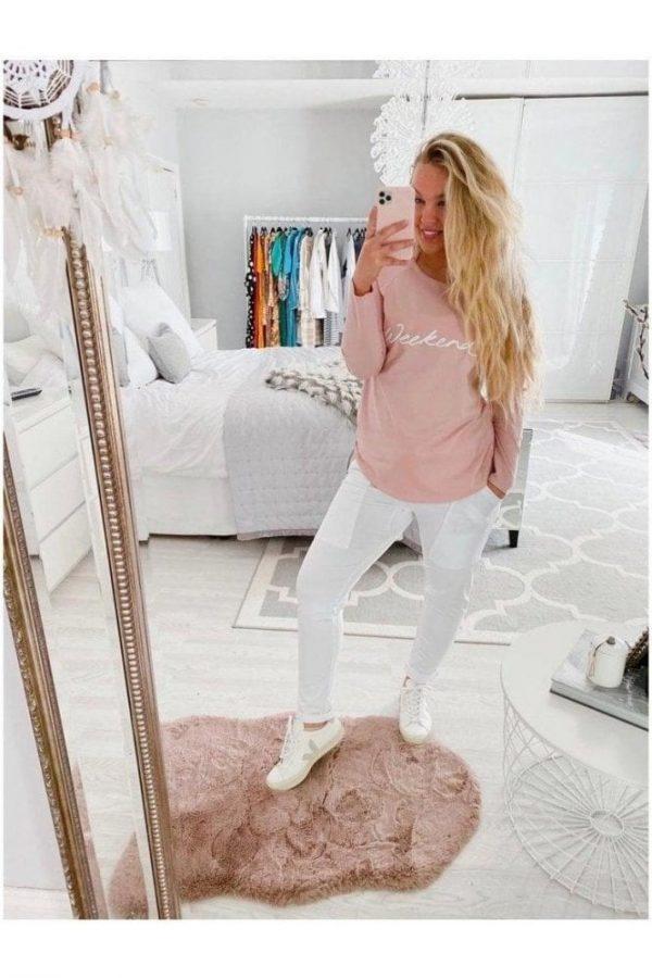 Chalk Clothing Pink Tasha White Weekend