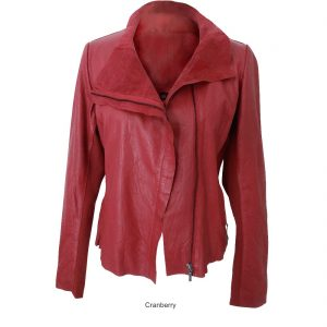 Cigno Nero Lys Cranberry Lambs leather Jacket