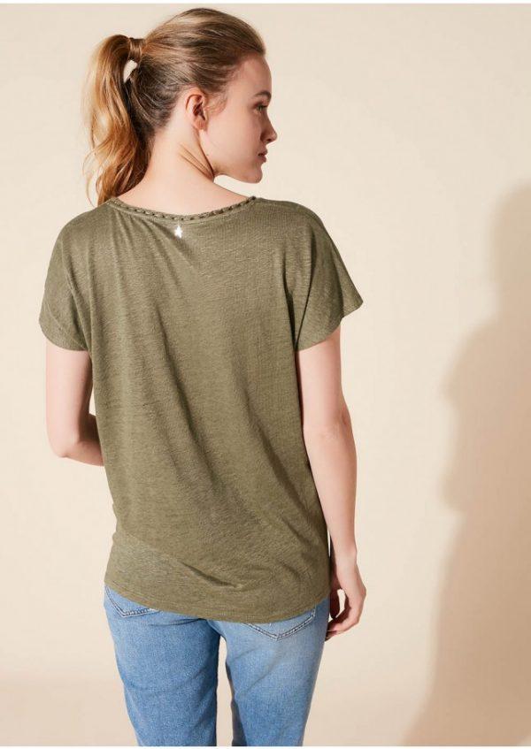 Sud Express Tanse Tee Shirt Short Sleeves V Neck