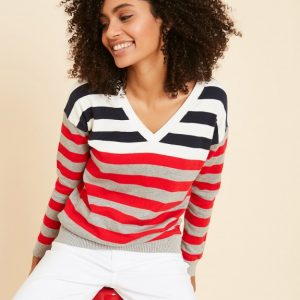 Sud Express Moswald Jumper Triped Long Sleeves
