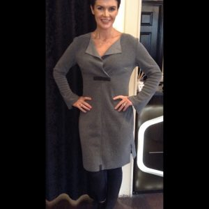 Henrietta Steffensen Fleece Dress in Grey