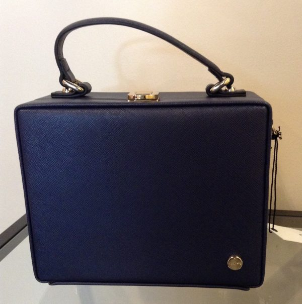 Olga Berg Navy Anna box top handle