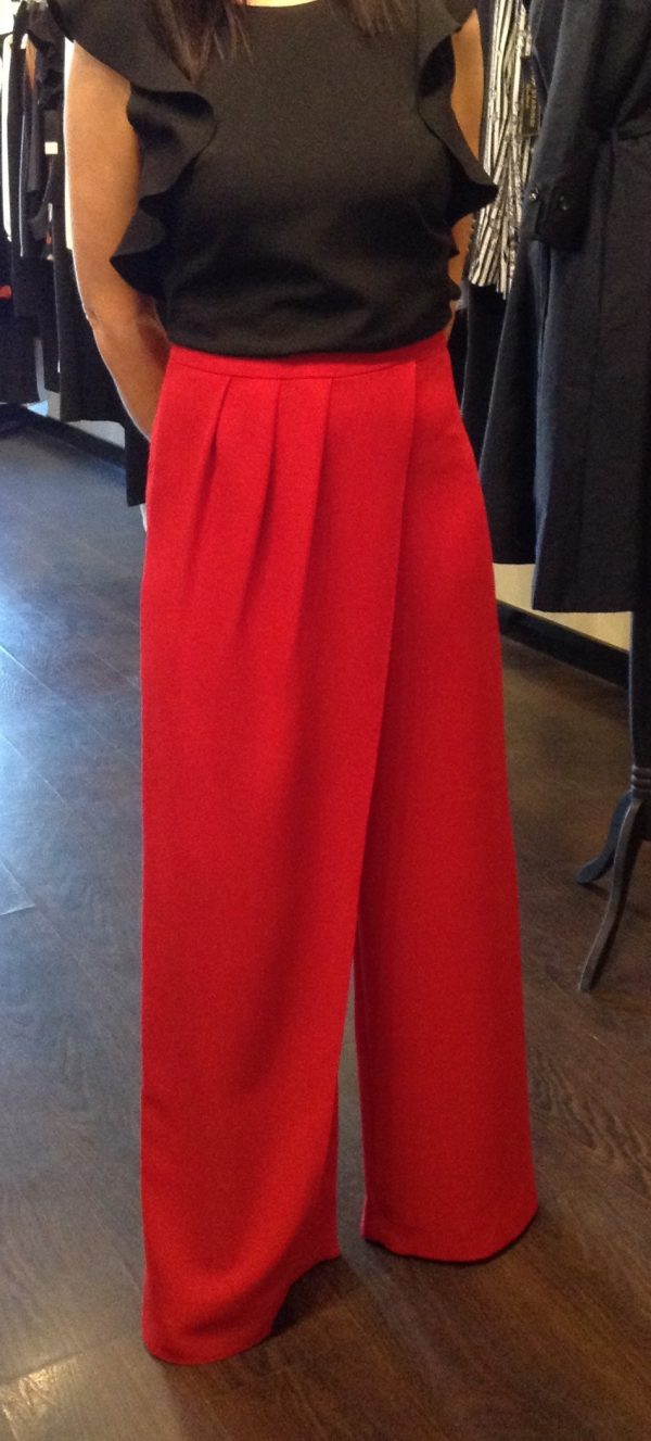 Laura Bernal wide leg red pants