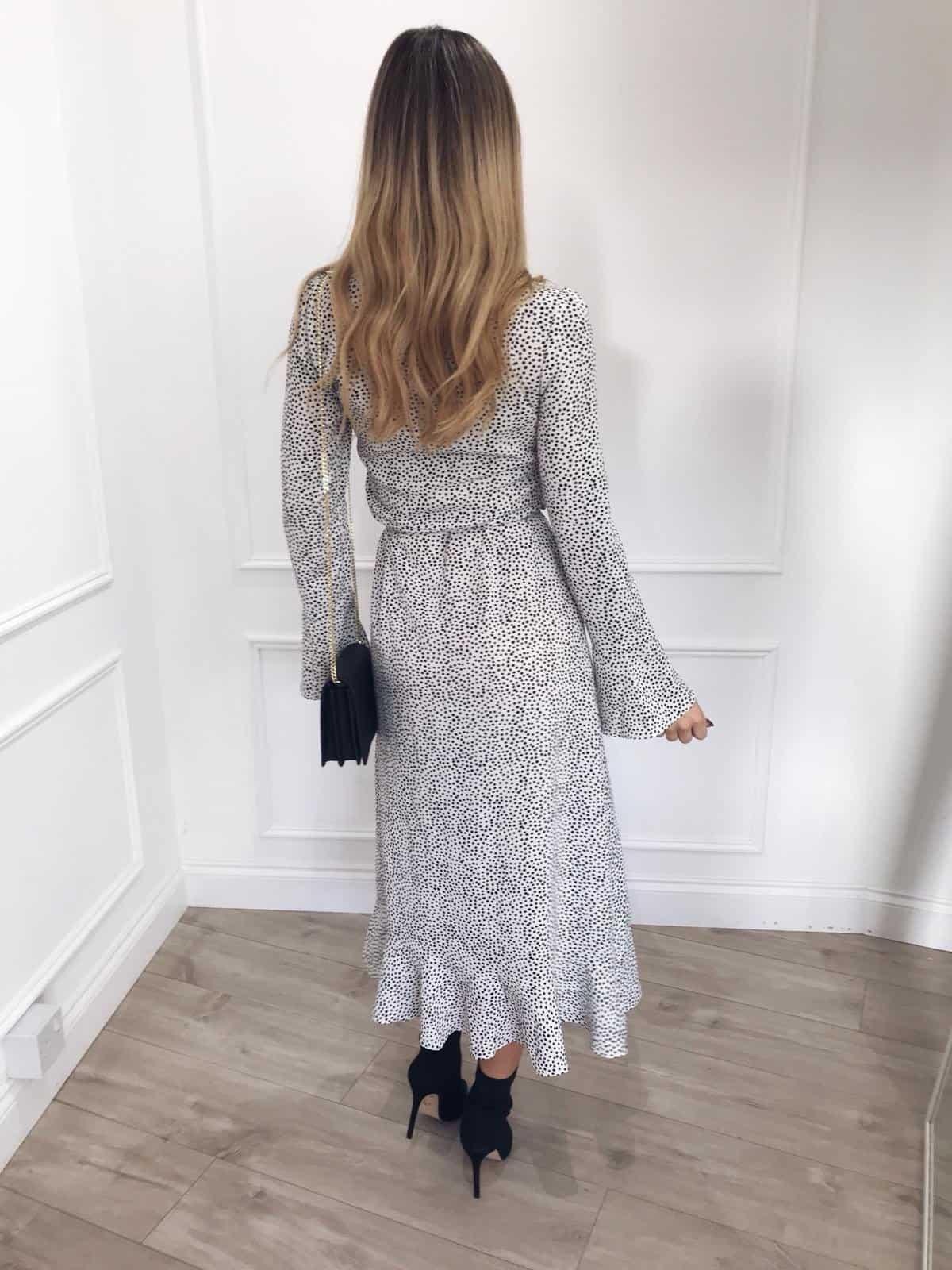 Pretty Lavish Valery Dress Polkadot Ivory Lane