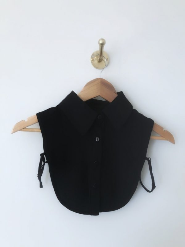 Buttons and Dote Black Bib Collar