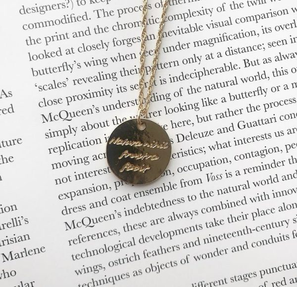 Betty and Biddy Compass Quote Necklace