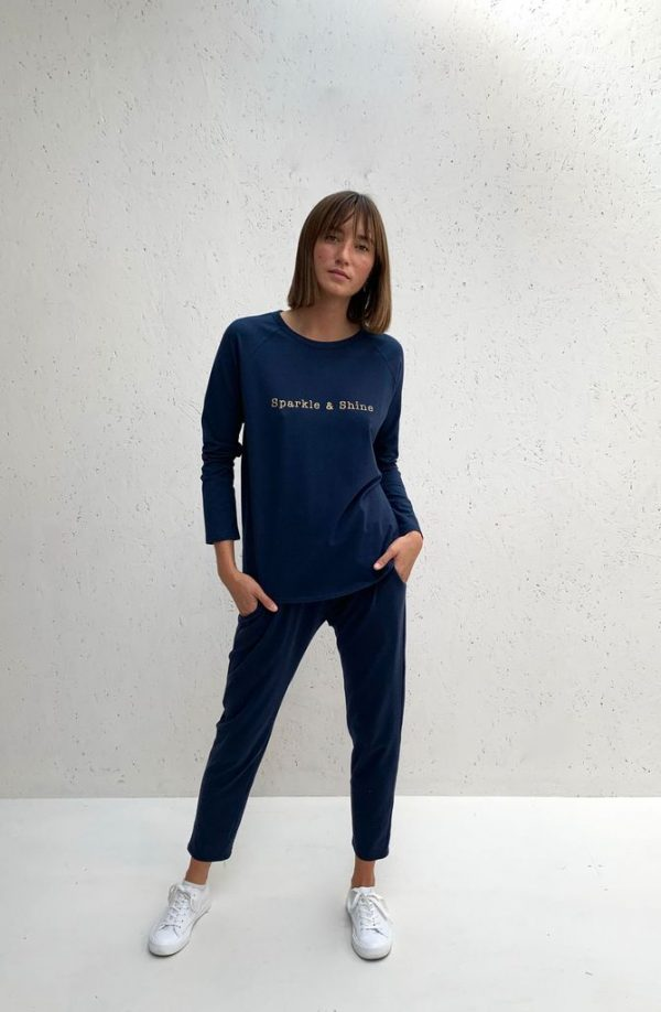 Chalk Clothing Tasha Long Sleeve Tee in Weekend Navy