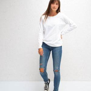 Chalk Clothing Tasha Long Sleeve Tee in Weekend White