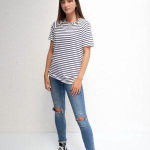 Chalk Darcey Black Stripe Top