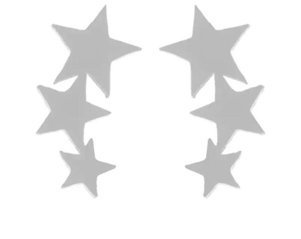 Betty and Biddy Triple Star Drop Silver