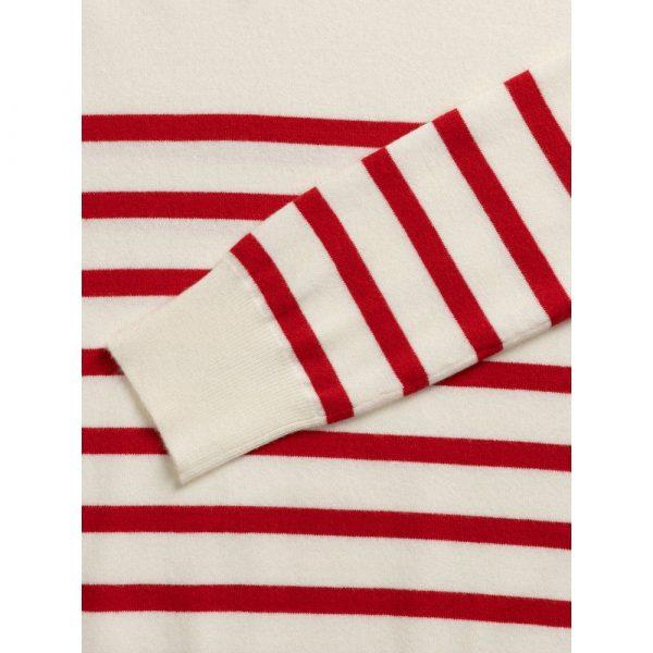 Chalk Clothing Jane Stripe Jumper in Red Ecru