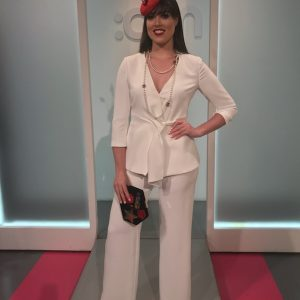 laura Bernal wide leg trouser suit