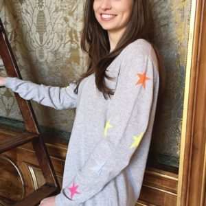 Luella lauren Grey star Knit