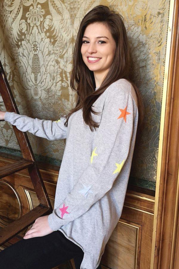 Luella lauren Grey star Knit