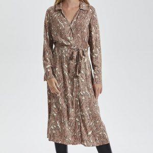 Light Tricolore Print Slavaleigh Halima Dress 300x300