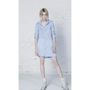 Lora Gene Sky Blue Livia Shirt dress