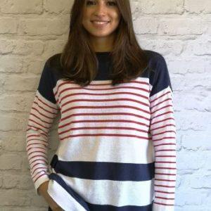 Luella Melissa Jumper in Navy\White\Red