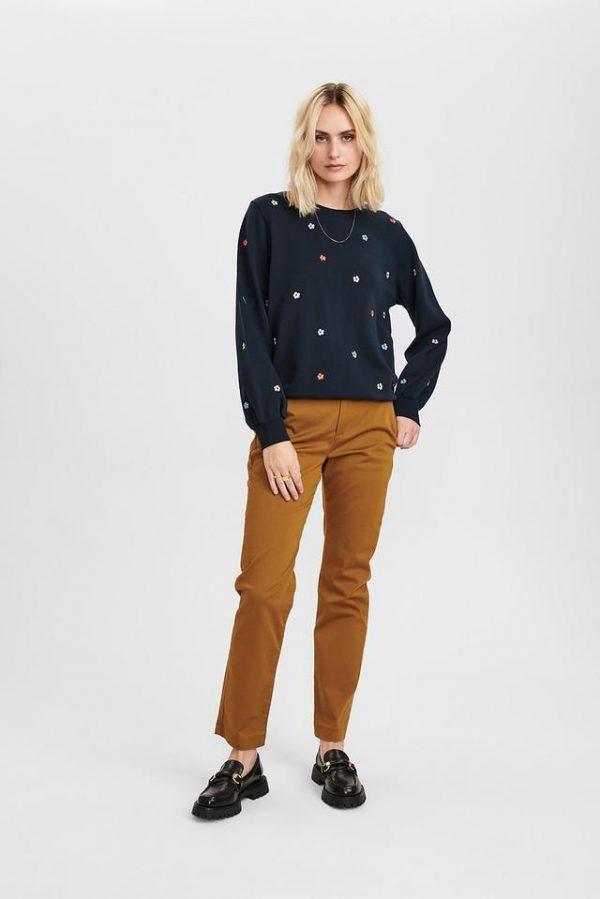 Numph Nubrittany Sweater in Dark Sapphire