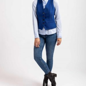 Bariloche Maleza Tailored Wool Waistcoat in Blue
