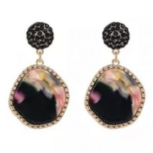 resin disc earrings black betty and biddy