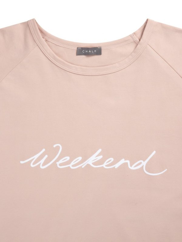 Chalk Clothing Pink Tasha White Weekend