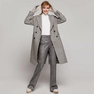 Access Fashion Grey Wool Coat