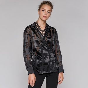 Access Fashion Black Crossover Blouse