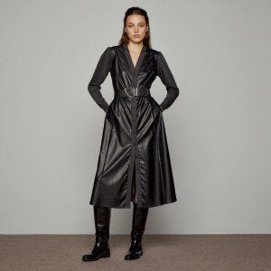 Access Fashion Black Faux Leather Dress