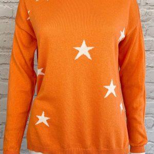 Luella Scatter Star Jumper in Orange\Cream