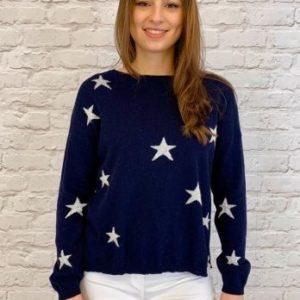 Luella Scatter Star Jumper in Navy