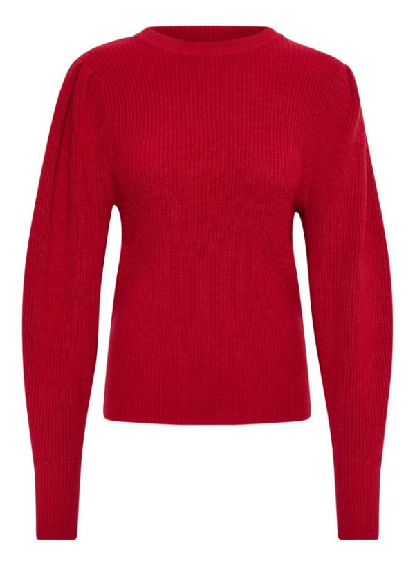 Soaked In Luxury Margo Pullover Scarlet