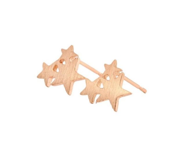 Betty and Biddy Rose Gold Triple Star