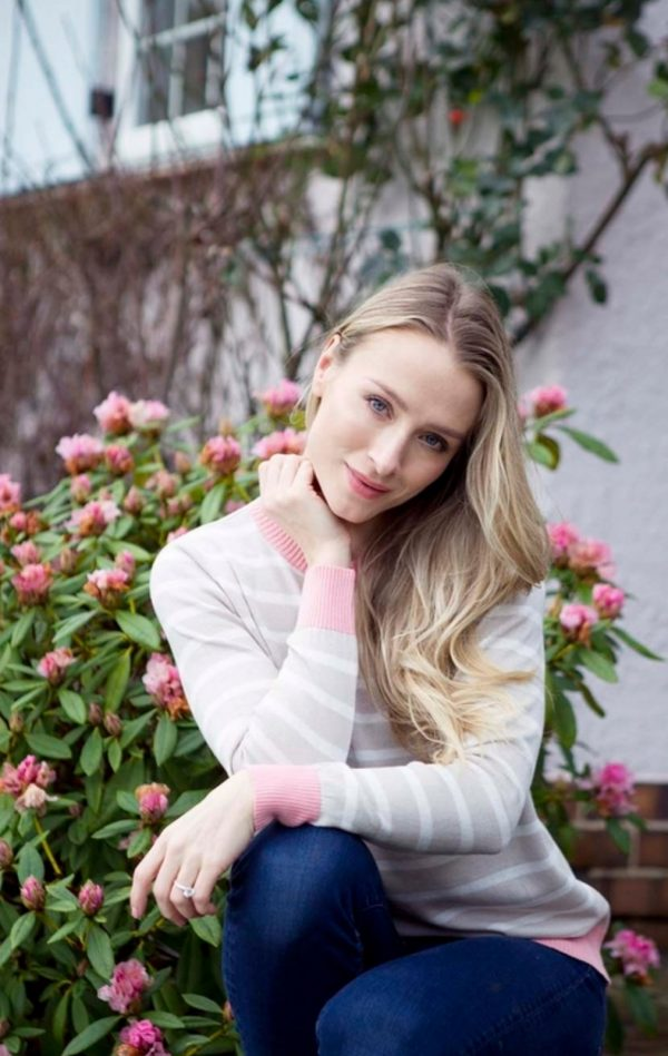 Luella Brittany Stripe Jumper Taupe / White / Pink