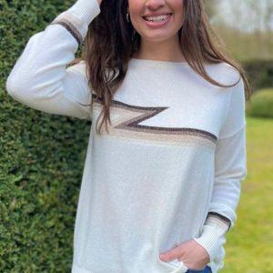 Luella Knitwear Ziggy Ivory / Multi
