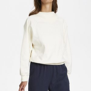 Soaked in Luxury SLBritta Sweatshirt Whisper White